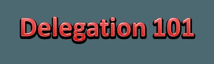 Understanding Delegation