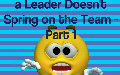 The Top 4 Surprises a Leader Doesn't Spring on the Team–Part 1