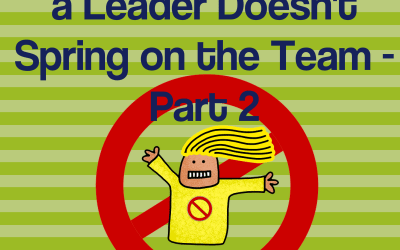 The Top 4 Surprises a Leader Doesn't Spring on the Team – Part 2