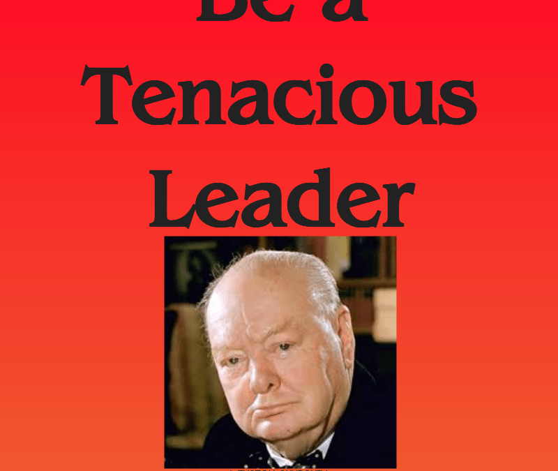Be a Tenacious Leader – a frank conversation of the desperate need for tenacious, persistent leaders