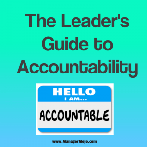 The Leader's Guide to Accountability – a lesson for leaders on the need for accountability of everyone on the team, including themselves